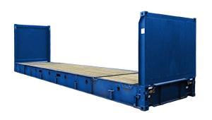 contenedor 40 flat rack